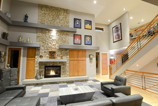 fireplace walls match contemporary by walls by design