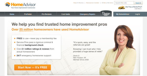 HomeAdvisor: Painting referral sites