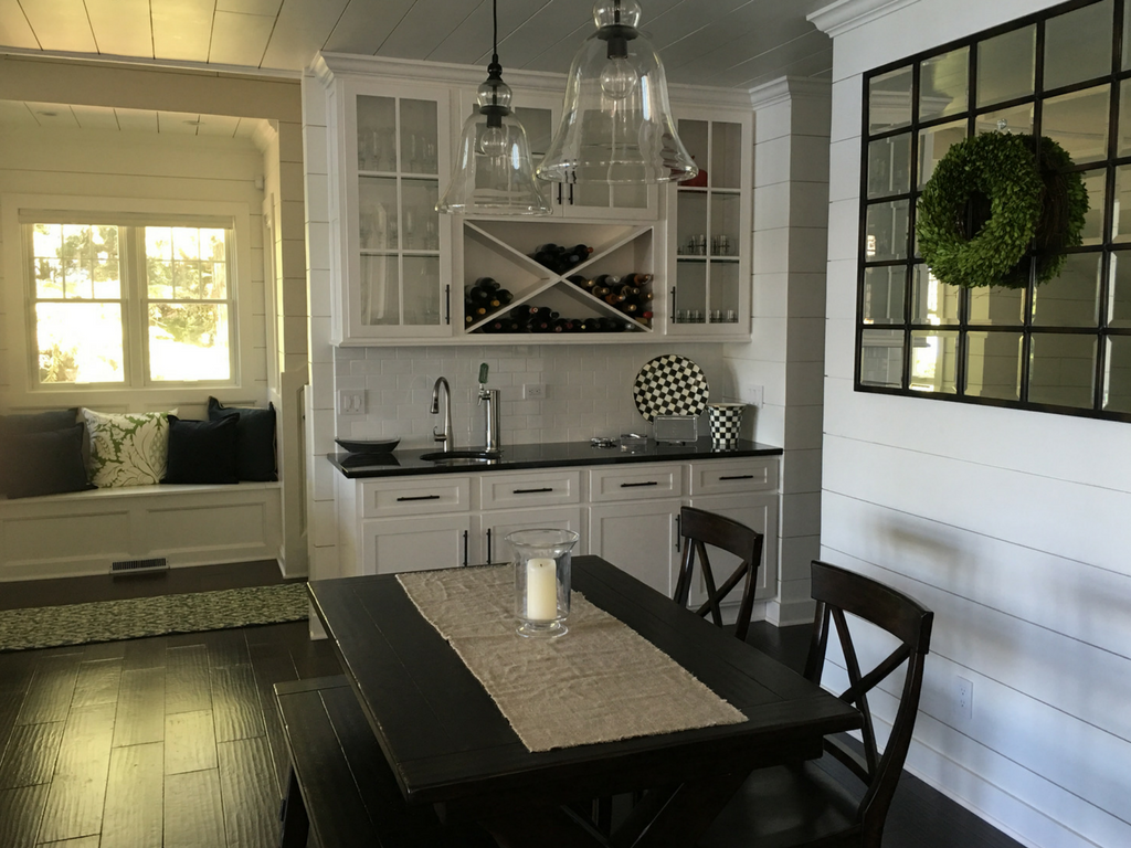 shiplap siding dining room