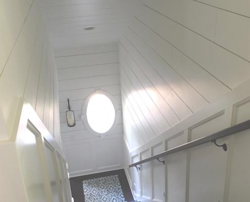shiplap siding stairs